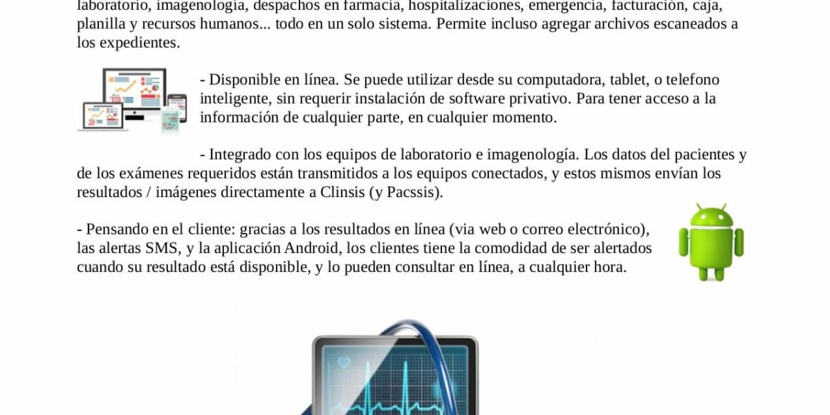 Clinsis – Información técnica legal y de seguridad