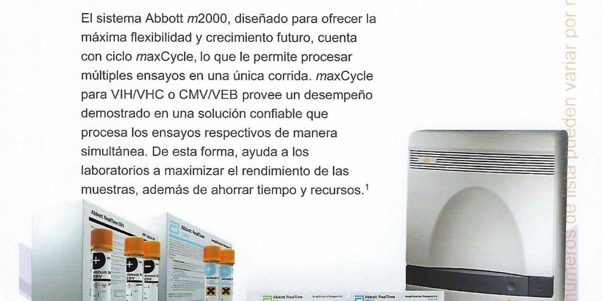 Abbott – Ciclo máximo m2000