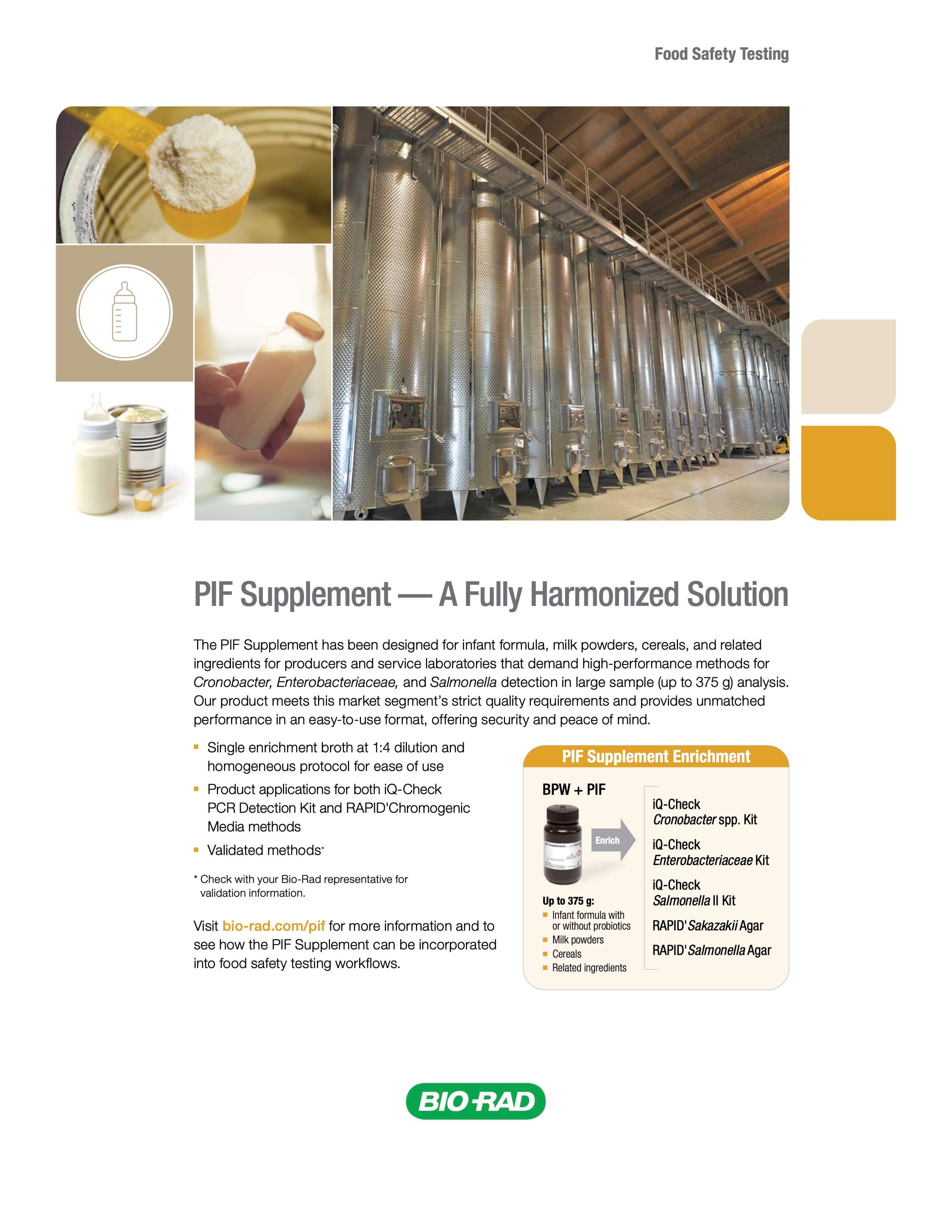 PIF Supplement – A Fully Harmonized Solution